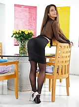 Secretary, Undressed Sizzling Babe in Shooting 1247 Lorena Garcia Shy appearing chick seems getting a real dirty adulteress, she strips down her dresses, exposing her simple funbags, lifts up her short top and draws down her panties, to unveil her pure alike moist c
