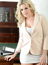 Busty Secretary, Amy Green