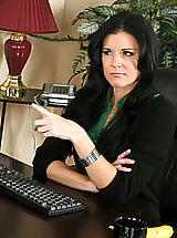 Sexy Secretary, Professor India Summer gets fucked in her sexy stockings